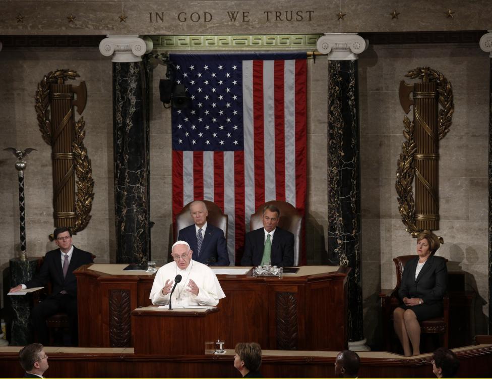 Papa Francesco conquista il cuore del Congresso degli Stati Uniti d'America