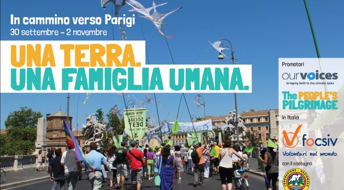 Yeb Sano: Da San Pietro a Parigi a piedi verso la COP21. Ogni passo conta!