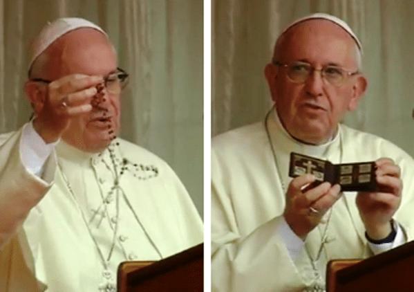 Il Rosario e la Via Crucis di Francesco