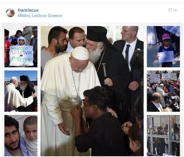 Papa a Lesbo: i profughi non sono numeri, sono persone