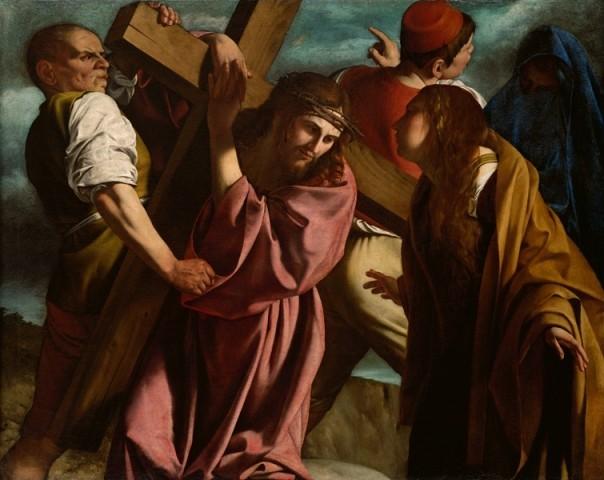 """Il dipinto di oggi è """"Salita al Calvario"""" del pittore italiano Orazio Gentileschi, 1600-1605 ca, olio su tela, 138,5 x 173 cm, Vienna, Kunsthistorisches Museum."""