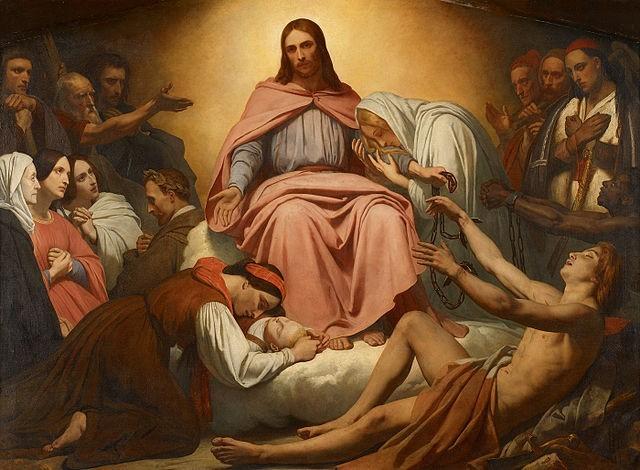 """Il dipinto di oggi è """"Il Cristo Consolatore"""" del pittore olandese Ary Scheffer, 1837, olio su tela 87x65 cm, Amsterdam Museum"""