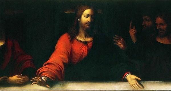 """Il dipinto di oggi è """"L'Ultima Cena"""" (dettaglio), del pittore italiano Bianchi Andrea detto Vespino, olio su tela, 1616 circa, 835x118 cm. , Pinacoteca Ambrosiana, Milano."""