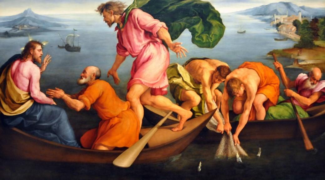 Viene Gesù, prende il pane e lo dà loro, così pure il pesce.