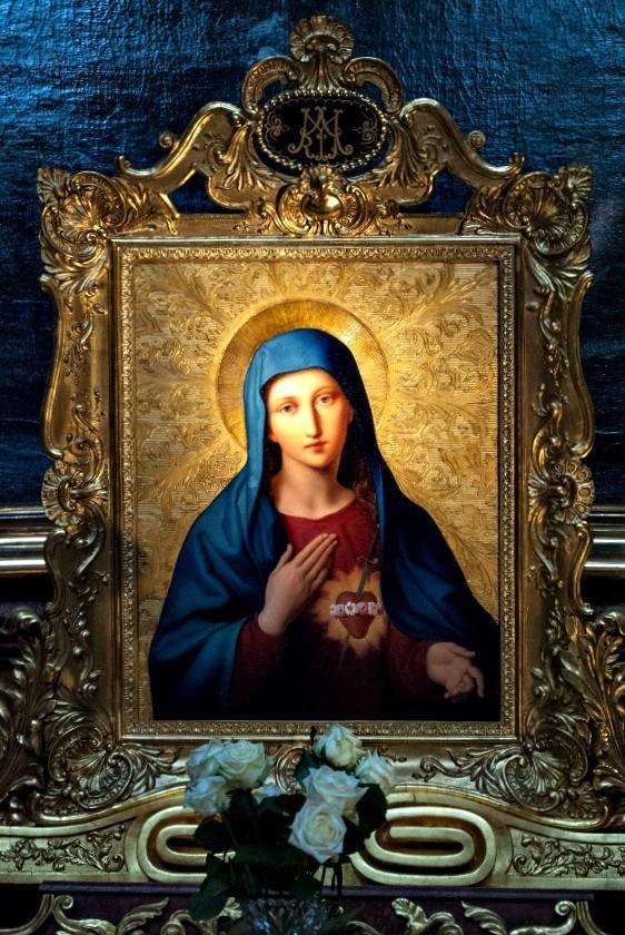 """Il dipinto di oggi è: """"Il Cuore di Maria"""" opera del pittore austriaco Leopold Kupelwieser (1796,1862), cappella di Sant'Antonio, Peterskirche, Vienna, Austria"""