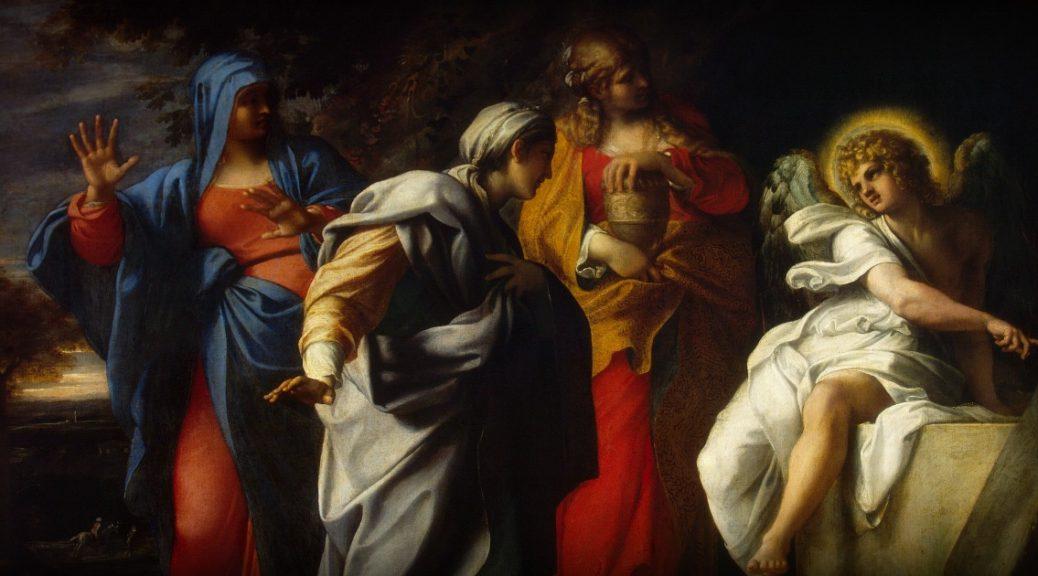 """Il dipinto di oggi è """"Le Pie donne al Sepolcro"""", del pittore italiano Annibale Carracci, 1600 circa, olio su tela, 121x146 cm, Museo dell'Ermitage, San Pietroburgo, Russia"""