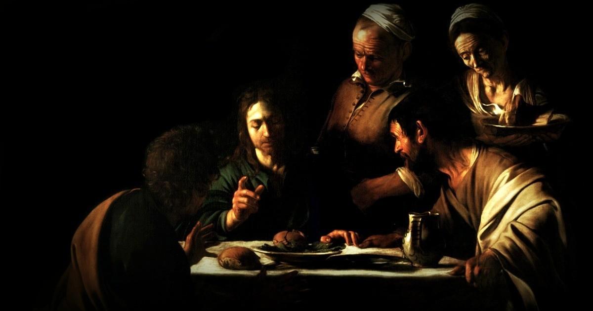 """Il dipinto di oggi è """"Cena ad Emmaus"""", del maestro italiano Caravaggio, 1606, olio su tela, 141x175 cm, Pinacoteca di Brera, Milano"""