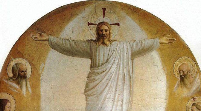 """L'immagine di oggi è """"La Trasfigurazione"""", affresco di Beato Angelico, 1440 circa, 189×159 cm, Museo nazionale di San Marco, Firenze"""