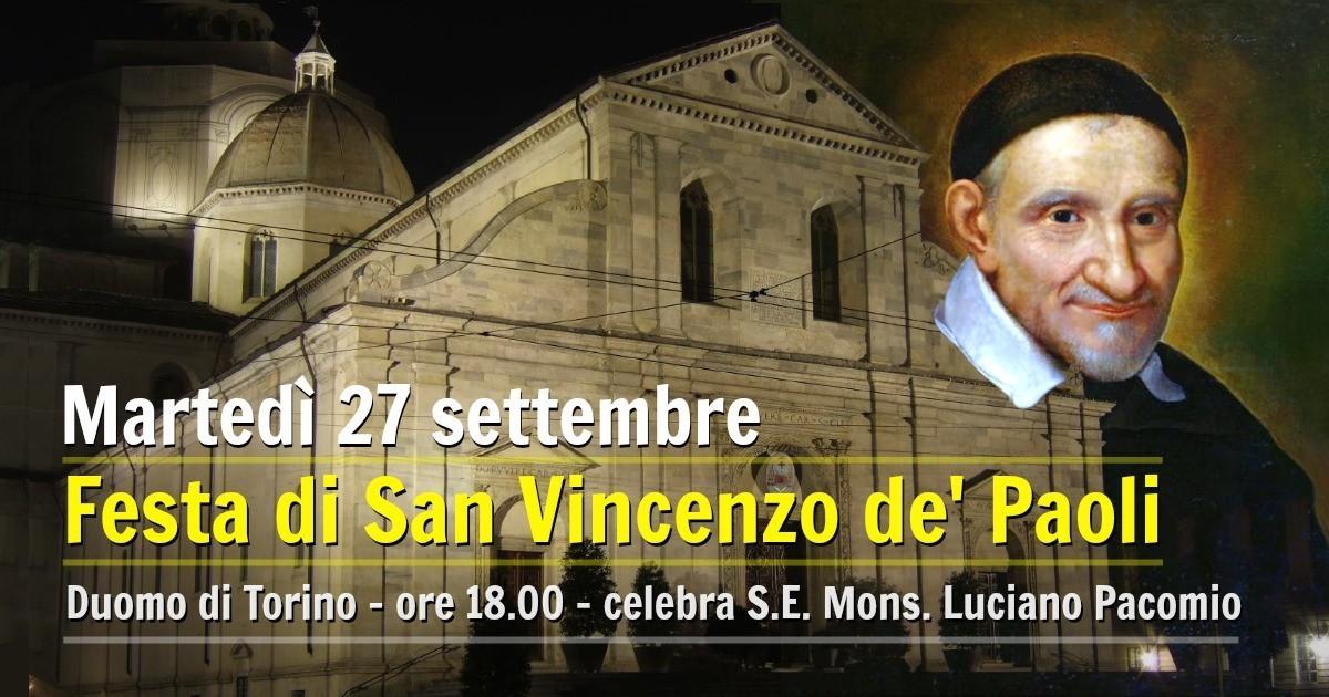 Martedì 27 settembre: Festa di San Vincenzo de' Paoli