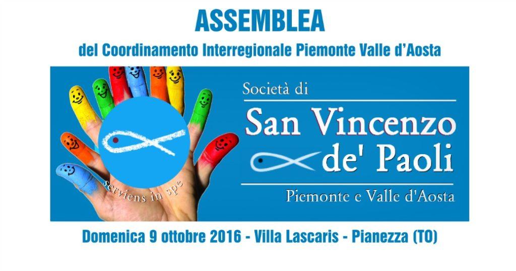 Assemblea del Coordinamento Interregionale Piemonte Valle d'Aosta – Pianezza – 9 ottobre 2016
