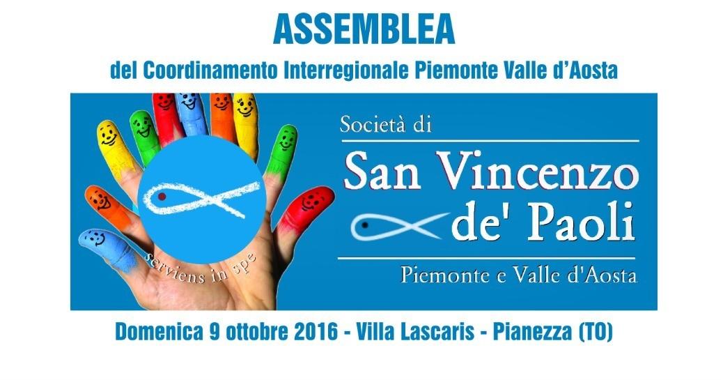 Assemblea del Coordinamento Interregionale Piemonte Valle d'Aosta - Pianezza - 9 ottobre 2016