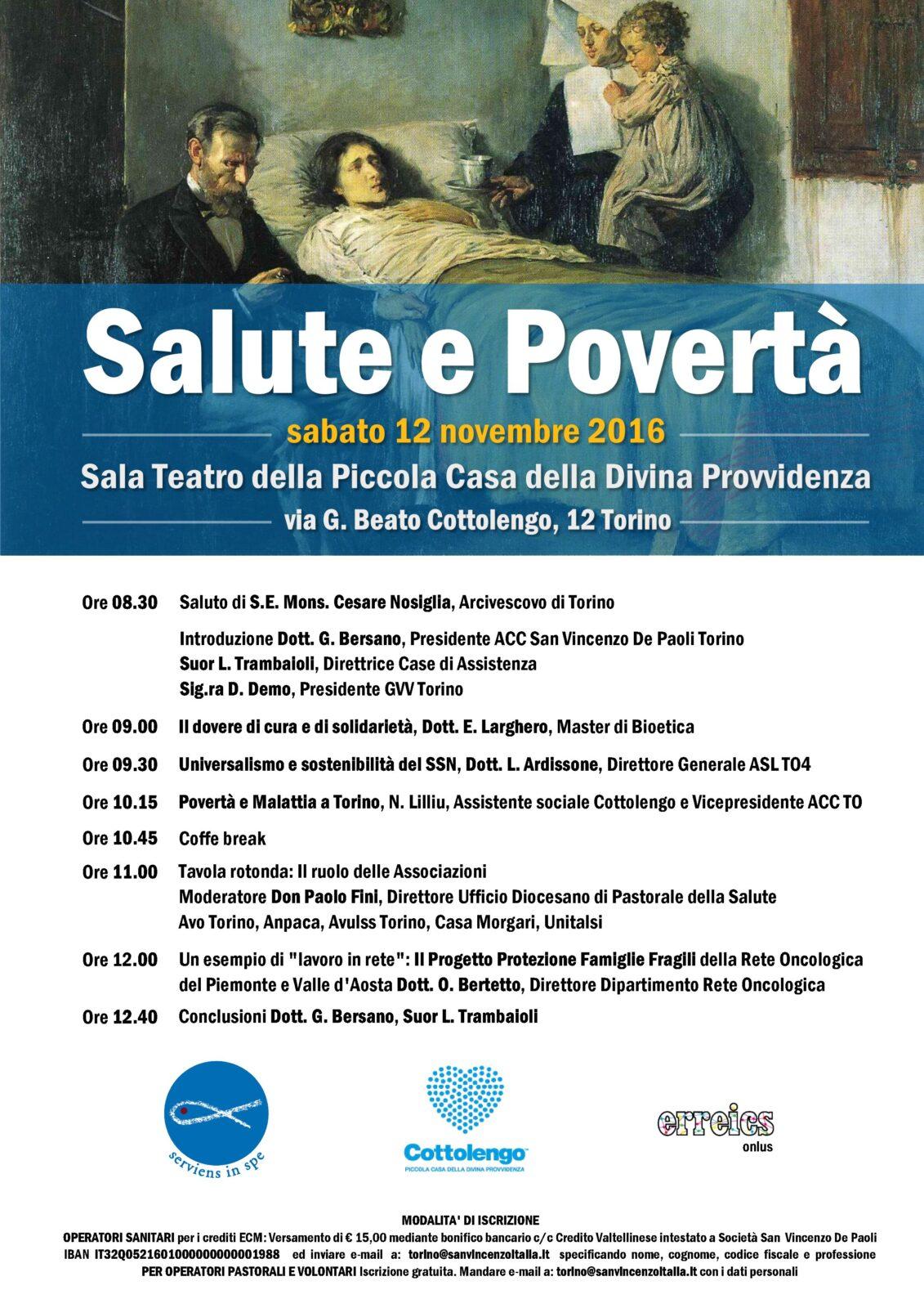 Salute e Povertà, il 12 novembre il Convegno delle Conferenze di San Vincenzo