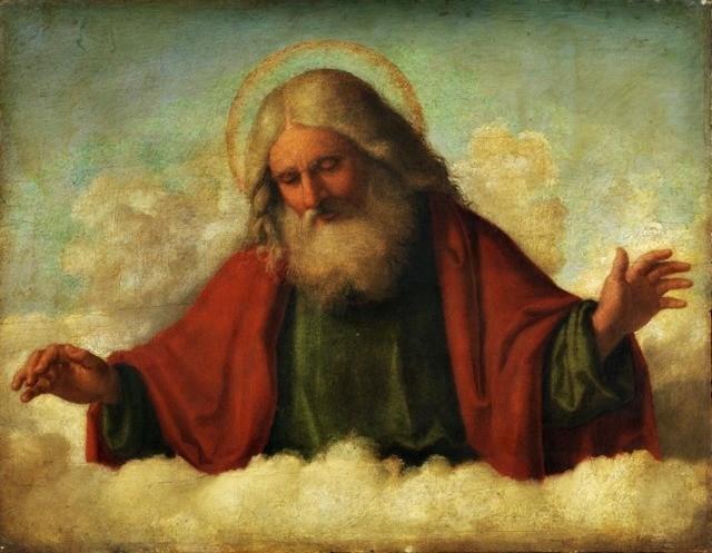 """Il dipinto di oggi è: """"Dio Padre"""", del pittore italiano Cima da Conegliano, XV secolo, olio su tavola, 31,7×40,6 cm, Courtauld Institute of Art, Londra"""