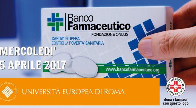 Raccolta di farmaci all'Università Europea di Roma