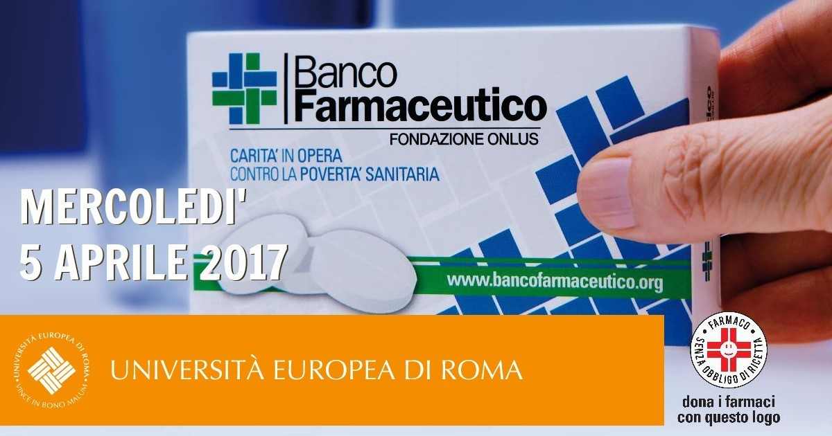 Raccolta di farmaci all'Università Europea di Roma