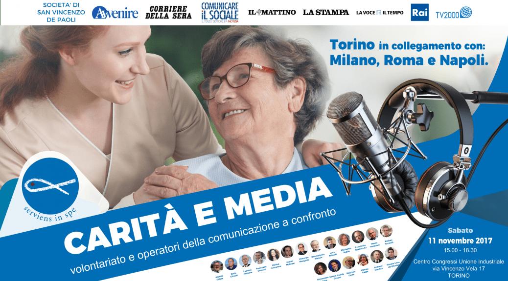 Carità e Media, 11 novembre: le più celebri firme del giornalismo italiano incontrano il mondo del volontariato