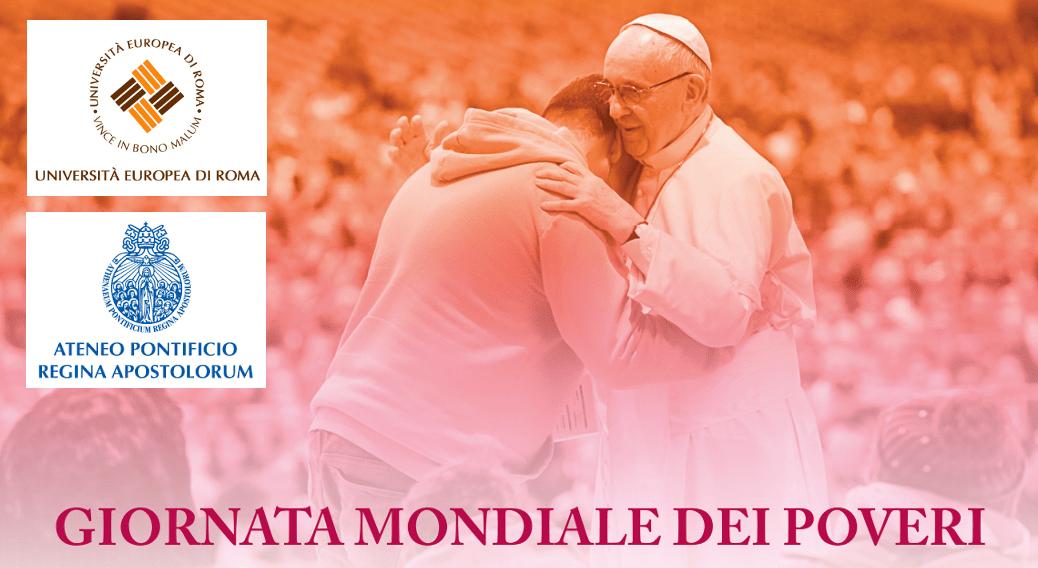 Giornata Mondiale dei Poveri: pranzo per 200 bisognosi all'Università Europea di Roma e Ateneo Pontificio Regina Apostolorum
