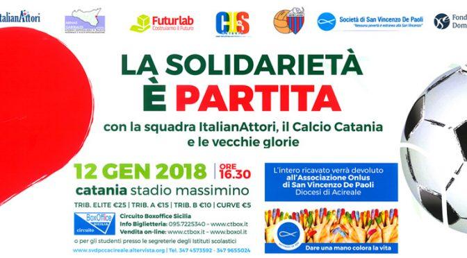 La solidarietà è partita. Catania 12 gennaio 2018